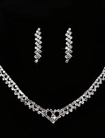 cheap -Women's Cubic Zirconia / Rhinestone Imitation Diamond Drop Jewelry Set 1 Necklace / Earrings - Classic / Vintage / Elegant Geometric