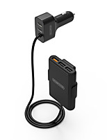 baratos -iPhone 7 Plus iPhone 6s Plus / 6 Plus iPhone 6 Plus Para iPad iPhone 8/7/6S/6 Para Celular Para Tablets USB Car Charger Tomada 5 Portas