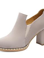abordables -Femme Chaussures Daim Printemps / Automne Gladiateur / Escarpin Basique Chaussures à Talons Talon Bottier Noir / Beige