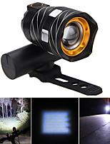 cheap -Bike Lights LED LED Cycling Portable Waterproof Rechargeable Battery 500lm Lumens White Cycling/Bike