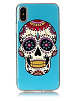 cheap -Case For Apple iPhone X iPhone 8 Ultra-thin Back Cover Skull Soft TPU for iPhone X iPhone 8 Plus iPhone 8 iPhone 7 Plus iPhone 7 iPhone