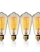 abordables -KWB 1set 40W E26 / E27 ST64 Jaune chaud 2200k Vue de la ville Ampoule incandescente Edison Vintage 220-240V