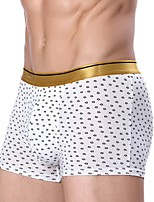 abordables -Homme Boxers Points Polka Couleur Pleine Taille Normale
