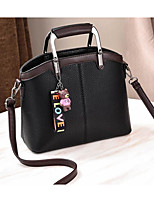 cheap -Women's Bags PU Shoulder Bag Bow(s) Buttons for Casual Winter Black Dark Blue Wine