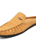 Недорогие -Муж. обувь Полиуретан Кожа Весна Лето Удобная обувь Мокасины и Свитер для Повседневные Белый Черный Желтый