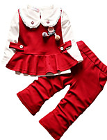 cheap -Kids Girls' Color Block Long Sleeves Clothing Set