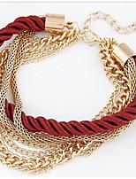 cheap -Women's Link Bracelet - Oversized Twist Circle Black Red Green Bracelet For Daily Bar