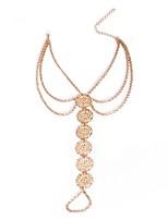 cheap -Bikini Anklet - Women's Gold Silver Fashion Bikini Circle Alloy Anklet For Daily Bikini
