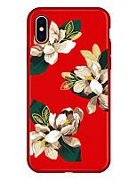 Недорогие -Кейс для Назначение Apple iPhone X / iPhone 8 Plus С узором Кейс на заднюю панель Мультипликация / Цветы Мягкий Настоящая кожа для iPhone X / iPhone 8 Pluss / iPhone 8
