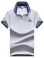 cheap -Men's Business Basic Polo - Solid Colored Letter