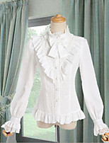 economico -Dolce Romantico Per donna Top o camicia Cosplay Bianco Nero Lolita Manica lunga Lolita