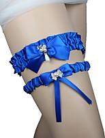 cheap -Lace Wedding Wedding Garter 617 Rhinestone Satin Bow Garters Balloon Unique Wedding Décor Wedding Wedding Party