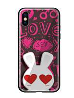 abordables -Funda Para Apple iPhone X iPhone 8 Diseños Funda Trasera Animal Dura Vidrio Templado para iPhone X iPhone 8 Plus iPhone 8 iPhone 7 iPhone