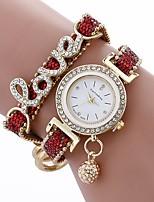 abordables -Mujer Cuarzo Reloj de Moda Chino Esfera Grande PU Banda Casual Minimalista Negro Blanco Azul Rojo Color Beige Rose
