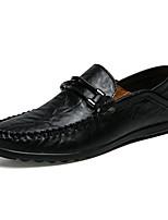 Недорогие -Муж. обувь Кожа Весна Осень Удобная обувь Мокасины и Свитер для Повседневные Офис и карьера Белый Черный Желтый