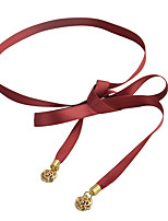 cheap -Women's Cute Fabric Alloy Skinny Belt - Solid Colored