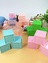 cheap -Cube Plastic Favor Holder with Embossed Favor Boxes - 20