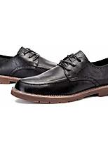 baratos -Homens sapatos Couro Ecológico Primavera Outono Conforto Oxfords para Casual Preto Marron