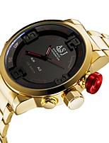 baratos -ASJ Homens Digital Relógio Esportivo Japanês Alarme Calendário Impermeável Noctilucente Cronômetro Aço Inoxidável Banda Luxo Fashion