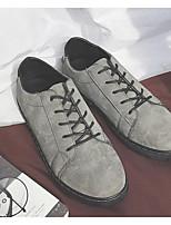 cheap -Men's Shoes PU Spring / Fall Comfort Sneakers Black / Dark Grey / Light Grey