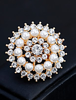 cheap -Women's Brooches Rhinestone Pearl Alloy Geometric Gold Silver Floral Fashion European Jewelry Wedding Daily Costume Jewelry