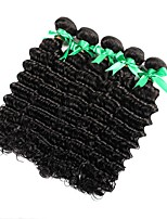 cheap -Indian Hair Deep Wave Curly Human Hair Weaves 6-Pack 100% Virgin Comfortable High Quality Hot Sale New Arrival Natural Color Hair Weaves