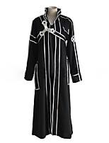 cheap -Inspired by Sword Art Online SAO Kirito Swordman Anime Cosplay Costumes Cosplay Suits Solid Colored Striped Reactive Print Long Sleeves