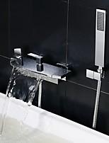 cheap -Bathtub Faucet - Contemporary Chrome Tub And Shower Ceramic Valve