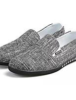 Недорогие -Муж. обувь Ткань Весна Осень Удобная обувь Мокасины и Свитер для Повседневные Черный Темно-синий Хаки