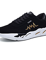 cheap -Men's Shoes Fabric Spring / Fall Comfort Sneakers Black / Gold / Black / White / Black / Red
