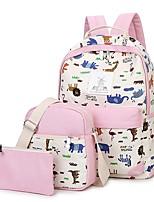 cheap -Women's Bags Canvas Bag Set 3 Pcs Purse Set Zipper for Casual White / Black / Blushing Pink