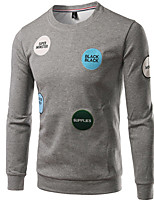 cheap -Men's Basic Sweatshirt - Solid Colored Letter, Embroidered