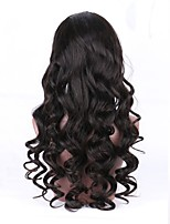 cheap -Unprocessed Wig Brazilian Hair Wavy With Ponytail 130% Density With Baby Hair Natural Hairline Black Short Long Mid Length Women's Human