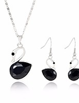 cheap -Women's Jewelry Set 1 Necklace Earrings - Fashion Sweet Swan White Black Pink Jewelry Set For Wedding Evening Party