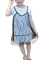 cheap -Kids Girls' Geometric Short Sleeves Dress