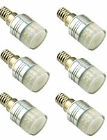 cheap -6pcs 3W 200lm E14 G9 LED Bi-pin Lights T 20 LED Beads SMD 3014 Decorative Warm White 220-240V