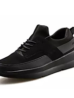 cheap -Men's Shoes PU Spring / Fall Comfort Sneakers Black / Black / White / Black / Red