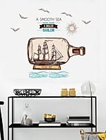 abordables -Autocollants muraux décoratifs - Autocollants avion Paysage Salle de séjour Chambre à coucher Salle de bain Cuisine Salle à manger Bureau