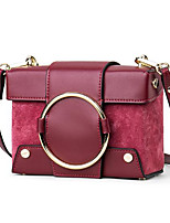 cheap -Women's Bags Genuine Leather Shoulder Bag Buttons Gray / Yellow / Wine