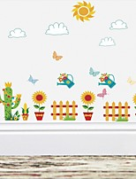 cheap -Wall Decal Decorative Wall Stickers - Plane Wall Stickers Floral / Botanical Re-Positionable Removable