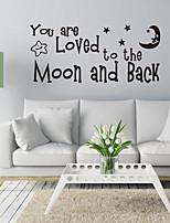 cheap -Wall Decal Decorative Wall Stickers - Words & Quotes Wall Stickers Characters Shapes Re-Positionable Removable