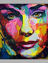 abordables -Peinture à l'huile Hang-peint Peint à la main - Abstrait Personnage Moderne Toile