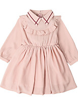 cheap -Kids Girls' Solid Colored Long Sleeves Dress