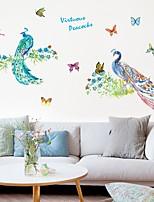 abordables -Calcomanías Decorativas de Pared - Pegatinas de pared de animales Animales Sala de estar Dormitorio Baño Cocina Comedor Habitación de