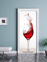 abordables -Calcomanías Decorativas de Pared Pegatinas de puerta - Calcomanías 3D para Pared 3D Sala de estar Dormitorio Baño Cocina Comedor