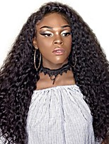 cheap -Remy Human Hair Wig Brazilian Hair Kinky Curly Curly Layered Haircut 130% Density With Baby Hair For Black Women Black Short Long Mid