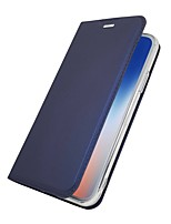 cheap -Case For Apple iPhone X iPhone 8 Plus Card Holder with Stand Flip Magnetic Full Body Cases Solid Colored Hard PU Leather for iPhone X