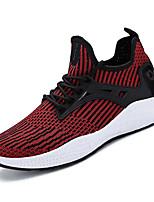 baratos -Homens sapatos Tule Primavera Outono Conforto Tênis para Casual Preto Cinzento Vermelho