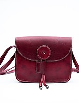 cheap -Women's Bags PU Shoulder Bag Zipper Black / Red / Brown