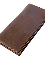 cheap -Men's Bags Cowhide Wallet Tiered for Office & Career Coffee